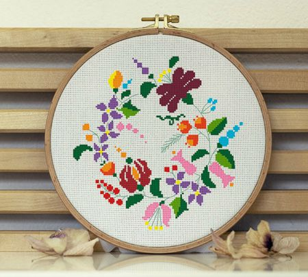60 Floral Wreath CrossStitch Patterns Stunning Cool Cross Stitch Patterns