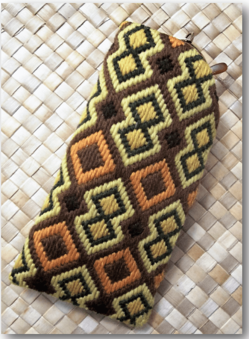 African Accents Needlepoint Eyeglass Case