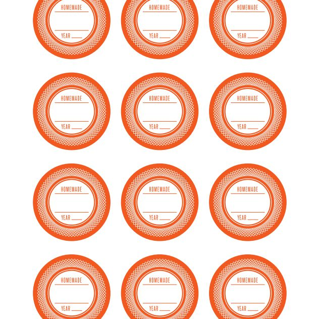 21 sets of free canning jar labels