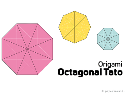 Origami Octagonal Tato Instructions Advanced