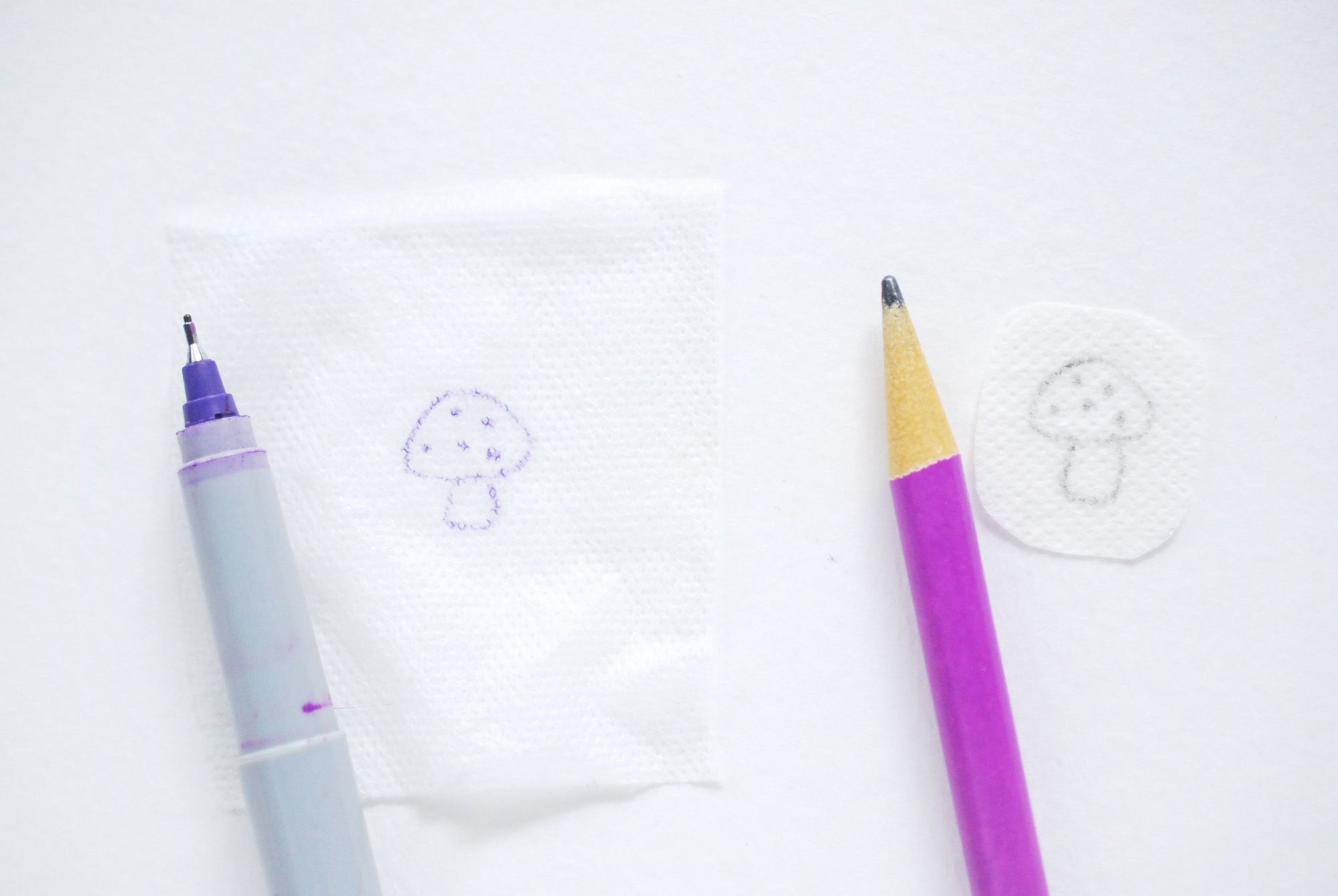 Tracing on Water-Soluble Material