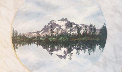 scenery landscape acrylic painting tutorial
