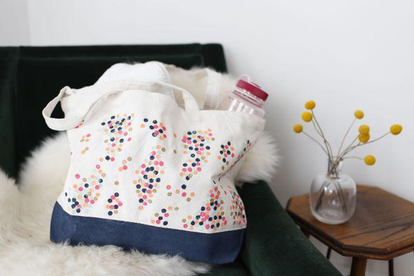 DIY painted tote bag