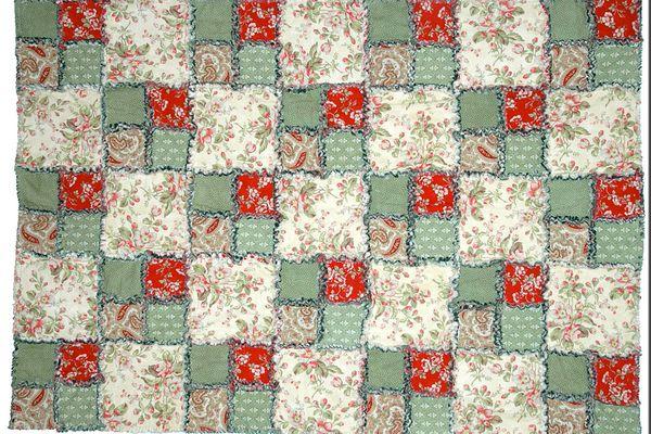 Four Patch Rag Quilt Pattern