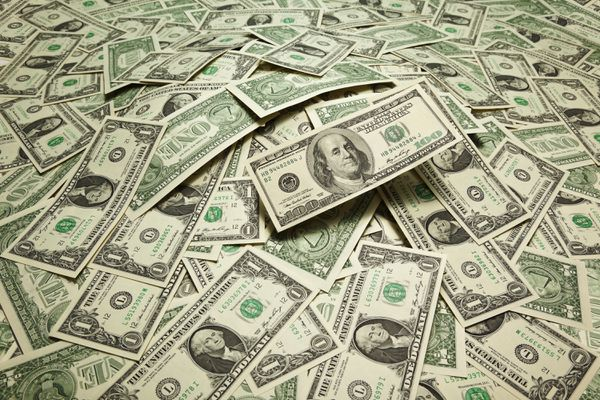 Various types of U.S. paper currency