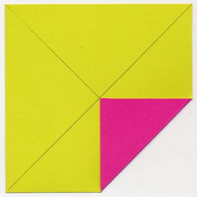 folding corner into center