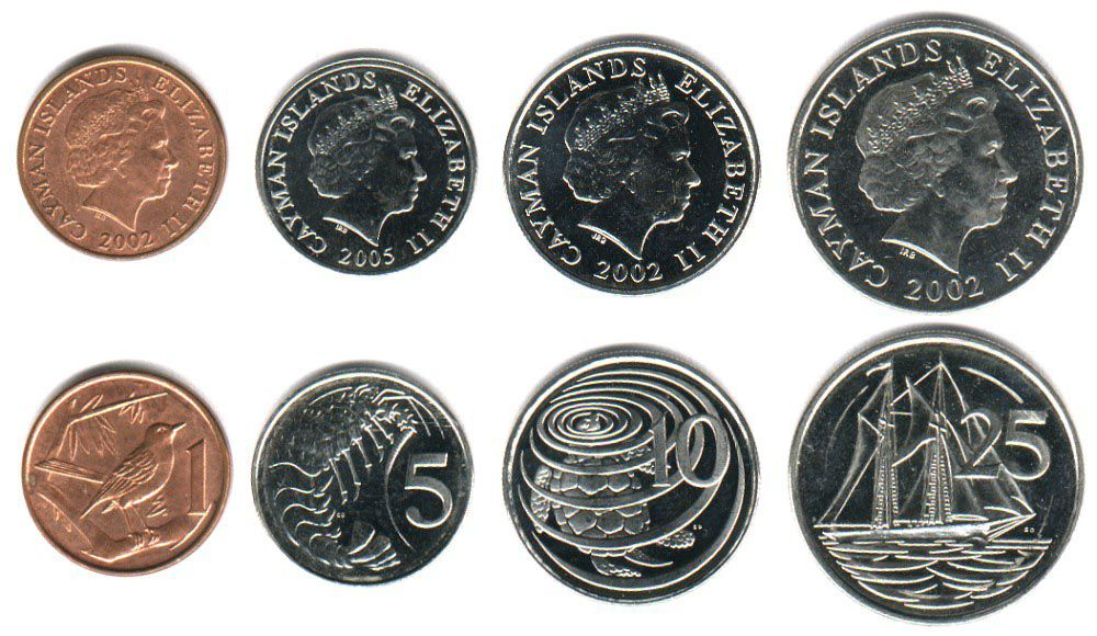These coins are currently circulating in the Cayman Islands as money.
