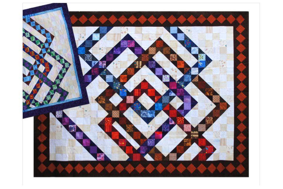 Interwoven Squares Quilt Pattern