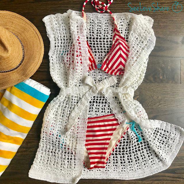 Crochet Swim Coverup Free Pattern