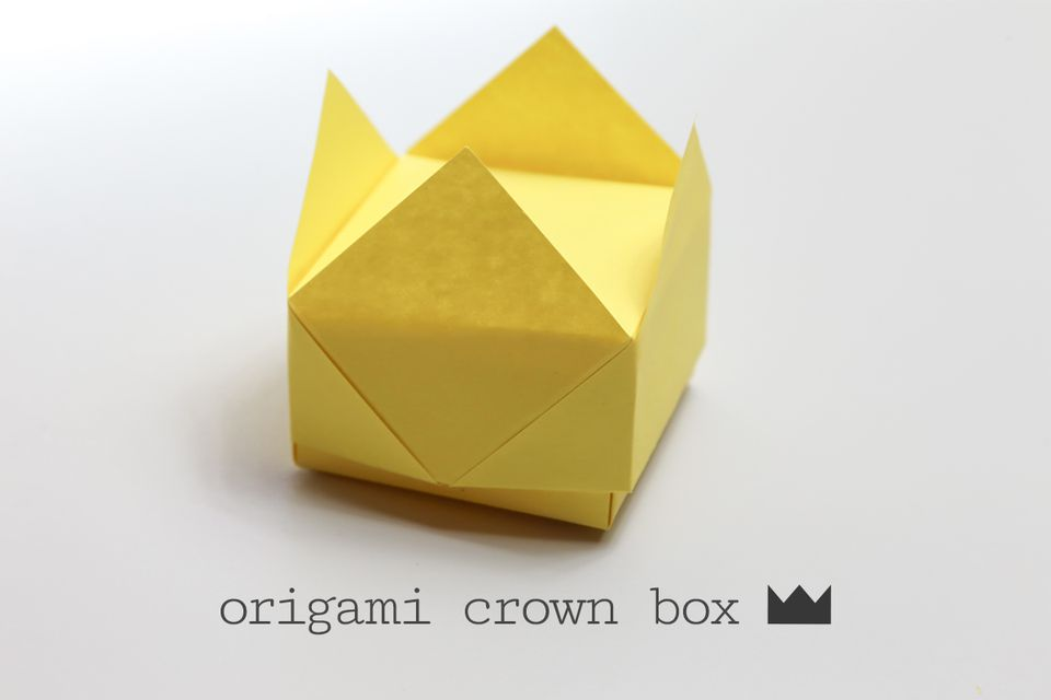 Origami Crown Box Instructions