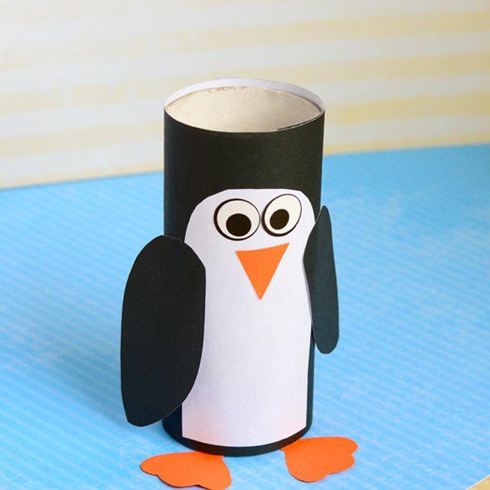 paper tube penguin