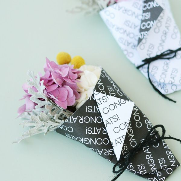 DIY Mini Graduation Bouquet