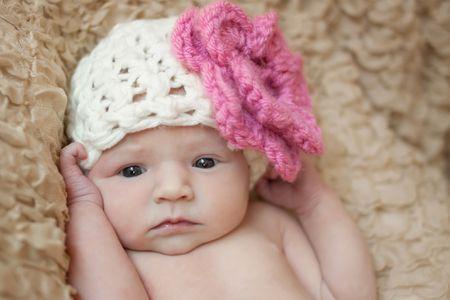 Crochet V Stitch Baby Hat Free Pattern