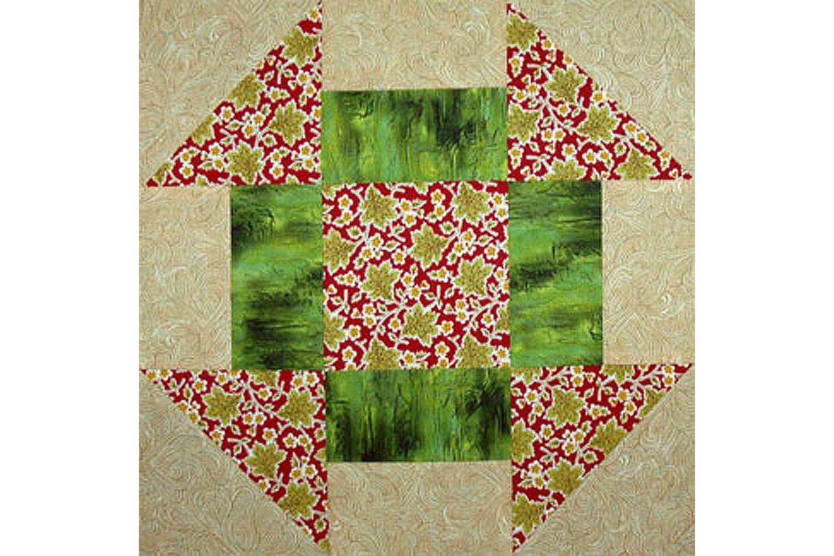 Best-Loved Quilt pattern /& templates Churn Dash ~ Quilt /& Block