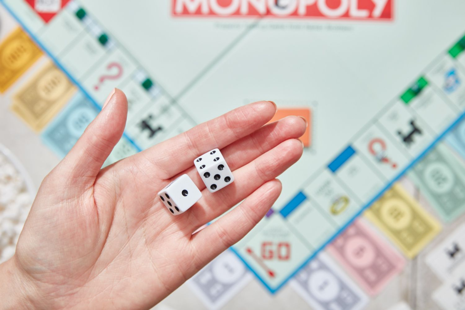 rolling dice in monopoly
