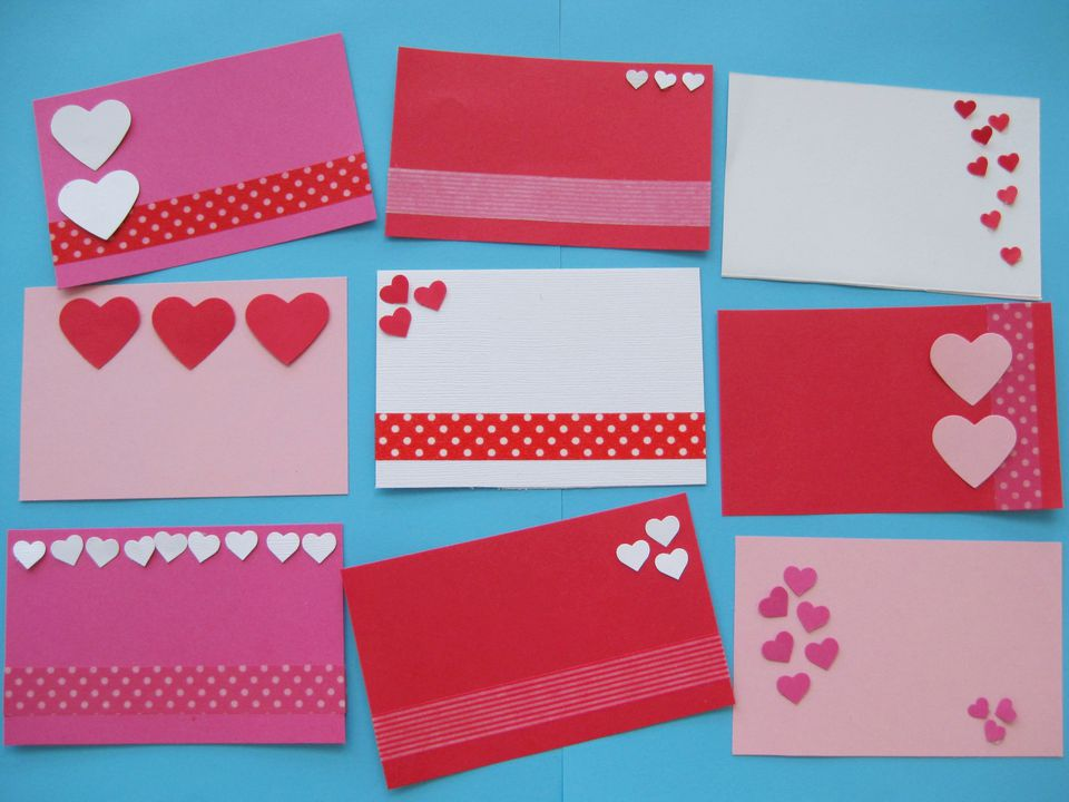 Valentine cards - easy mini Valentine notes