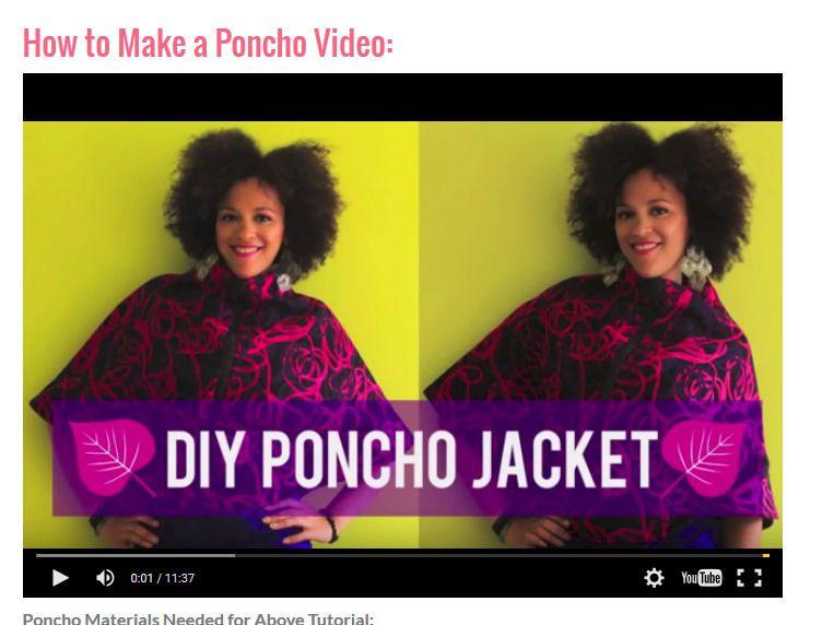 DIY Poncho Jacket Video