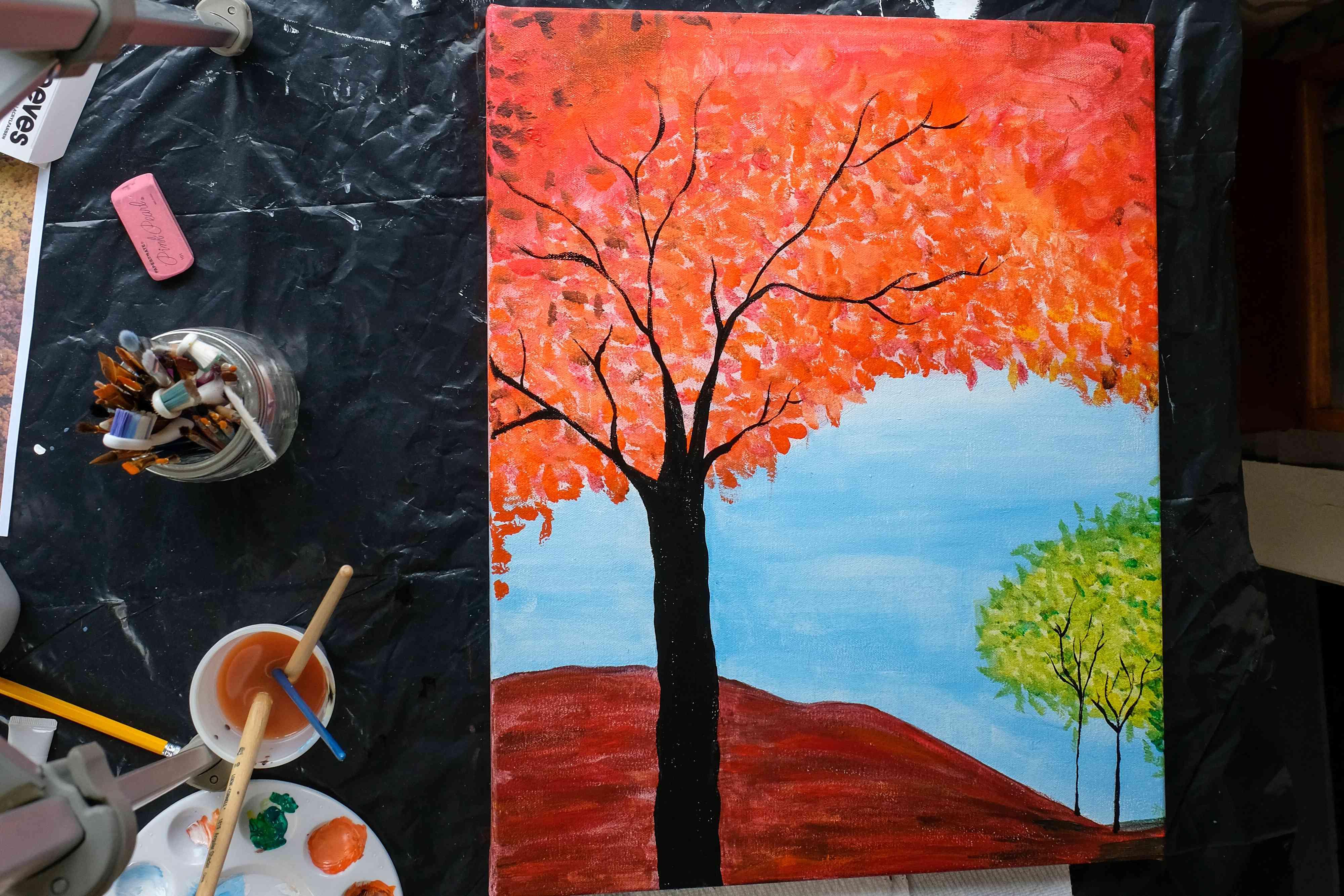 fall painting diy