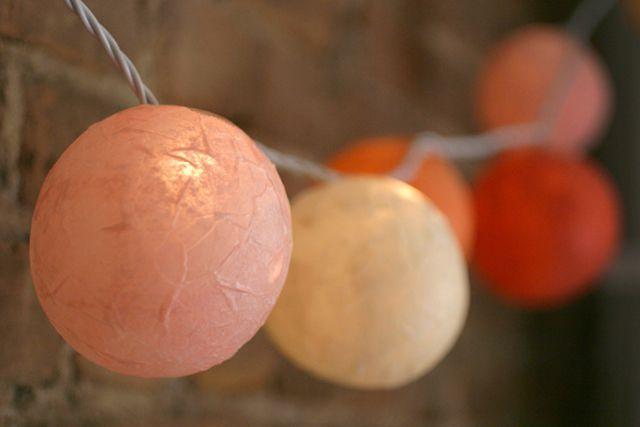 Paper mache light up globes