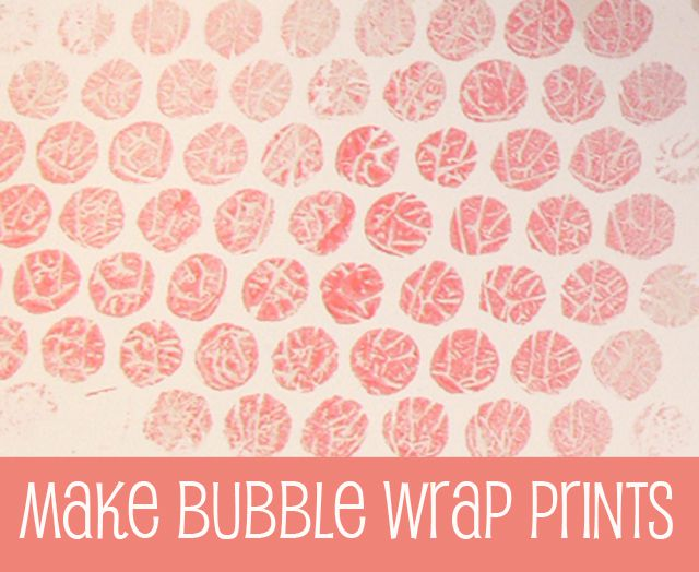 Stamp With Bubblewrap