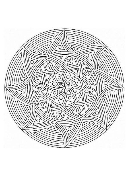 A Sun Mandala Coloring Sheet