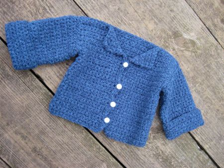 73e1307d3fb4 Crochet Baby Sweater Free Pattern