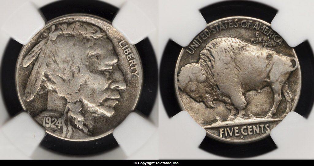 Buffalo Nickel graded Very Fine (VF20)