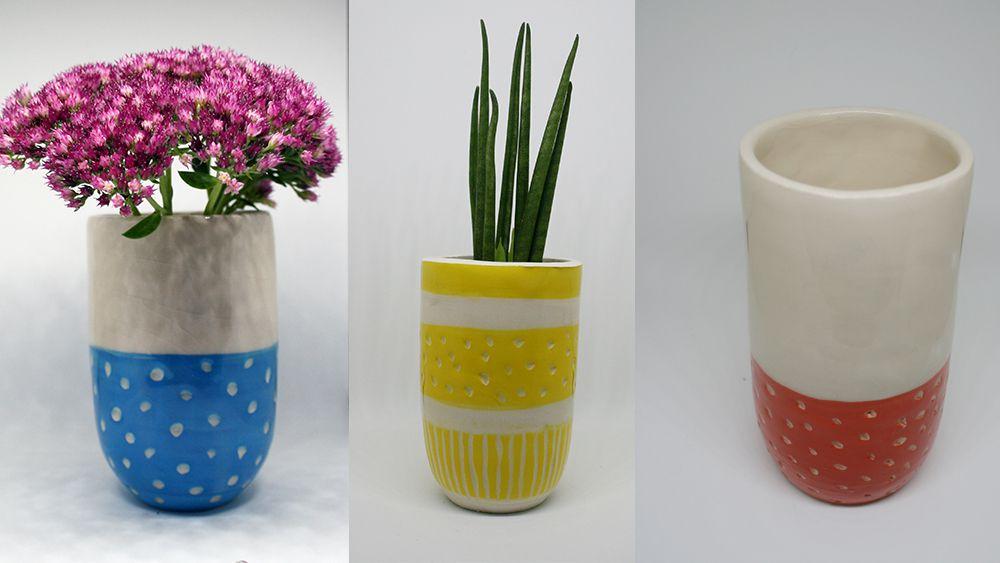 Beautiful brushworks ideas for ceramics
