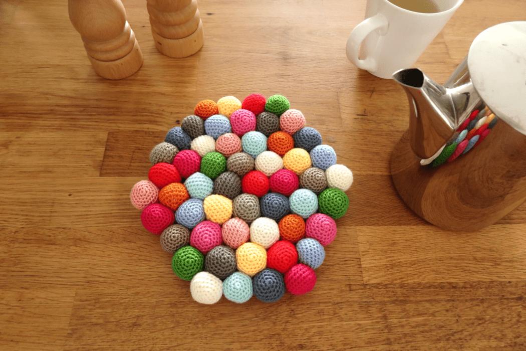 Candy Potholder Crochet Pattern