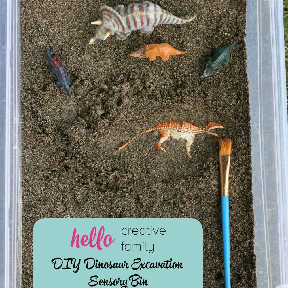 DIY dinosaur excavation craft