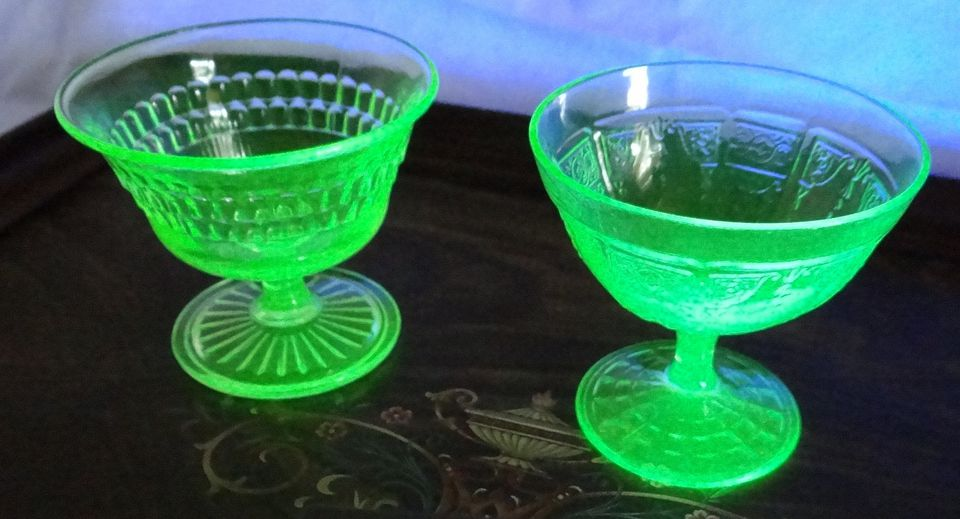Green vaseline glass