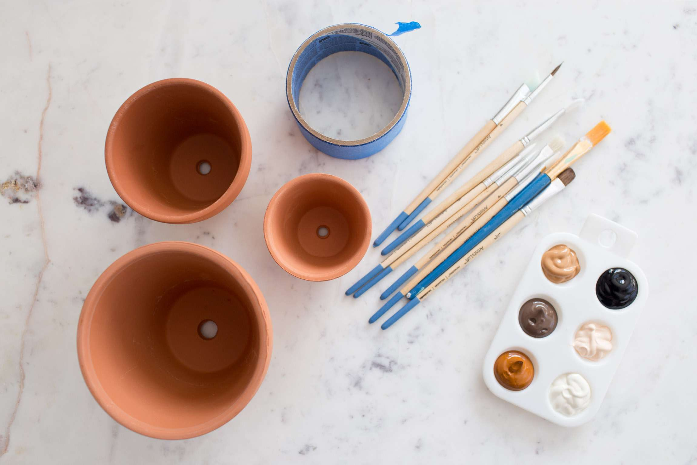 Supplies for painted pots