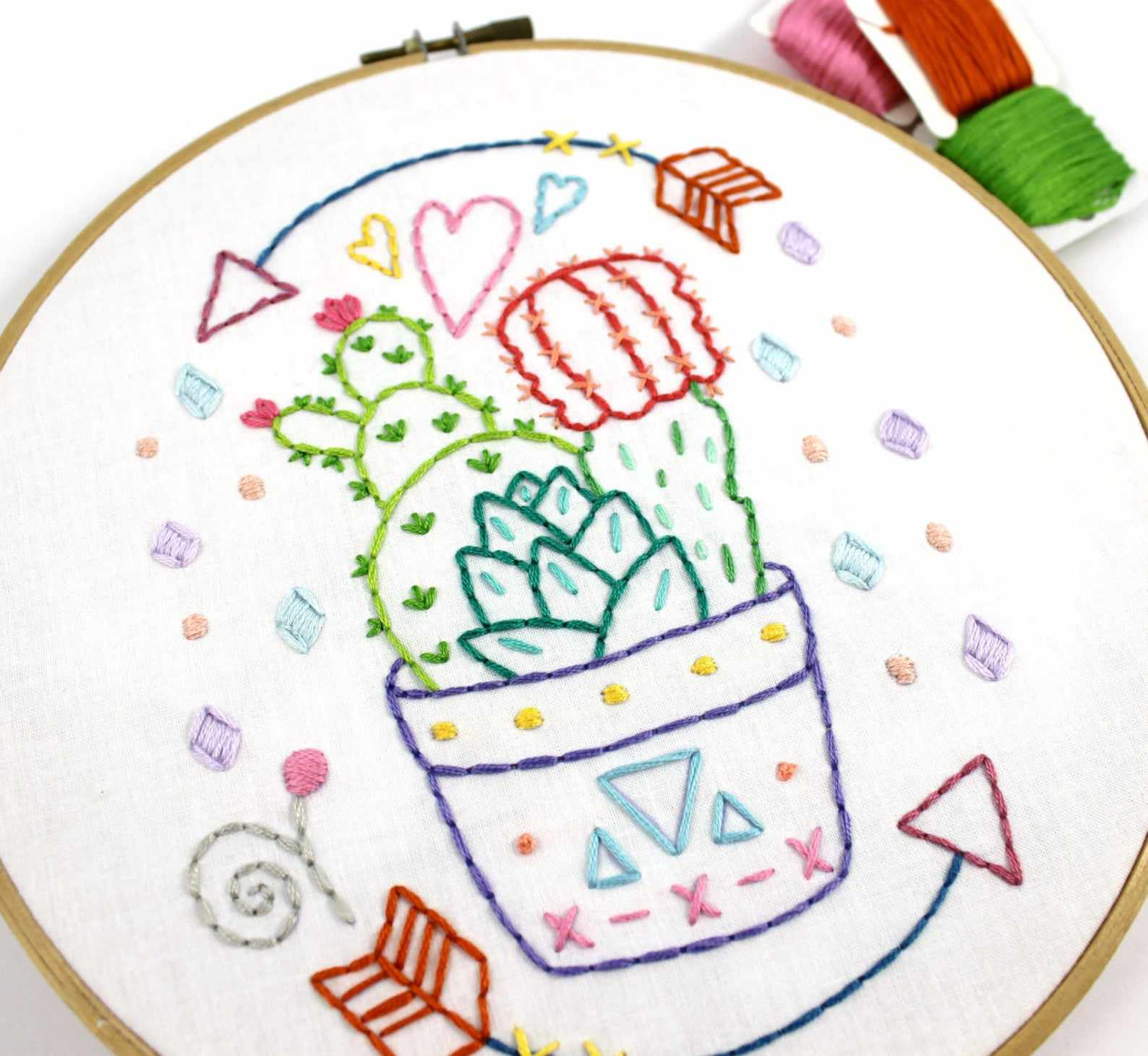 Cactus PDF Hand Embroidery Pattern