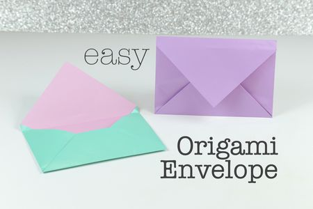 how to make an easy origami envelope