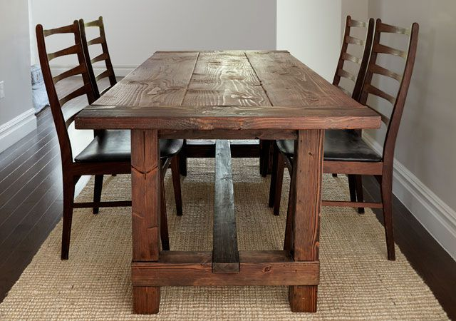 13 Free Diy Woodworking Plans For A Farmhouse Table - Dining-room-tables-plans