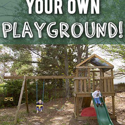 A wooden DIY playground
