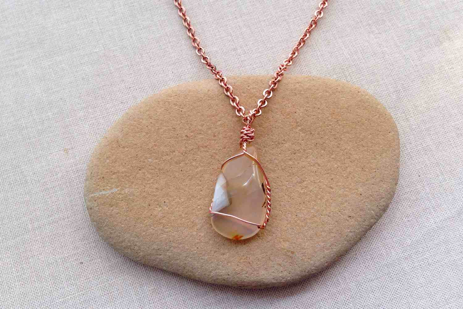Stupendous How To Make A Polished Stone A Pendant Necklace Wiring 101 Cajosaxxcnl