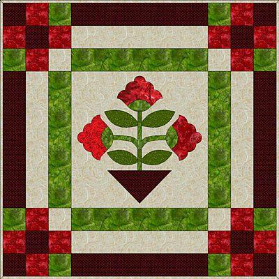 Floral Appliqué Medallion Quilt