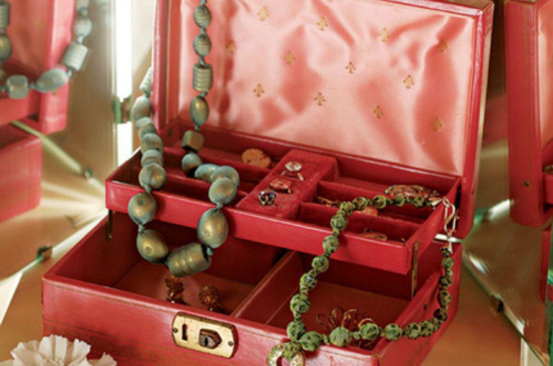 Fabric bound beads