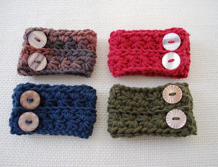 Star Stitch Cuff Free Crochet Pattern