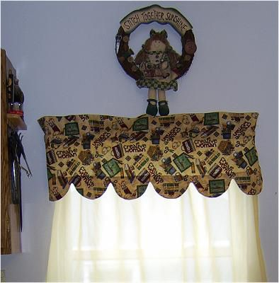 Sew A Curtain Valance With Scalloped Edges Pattern