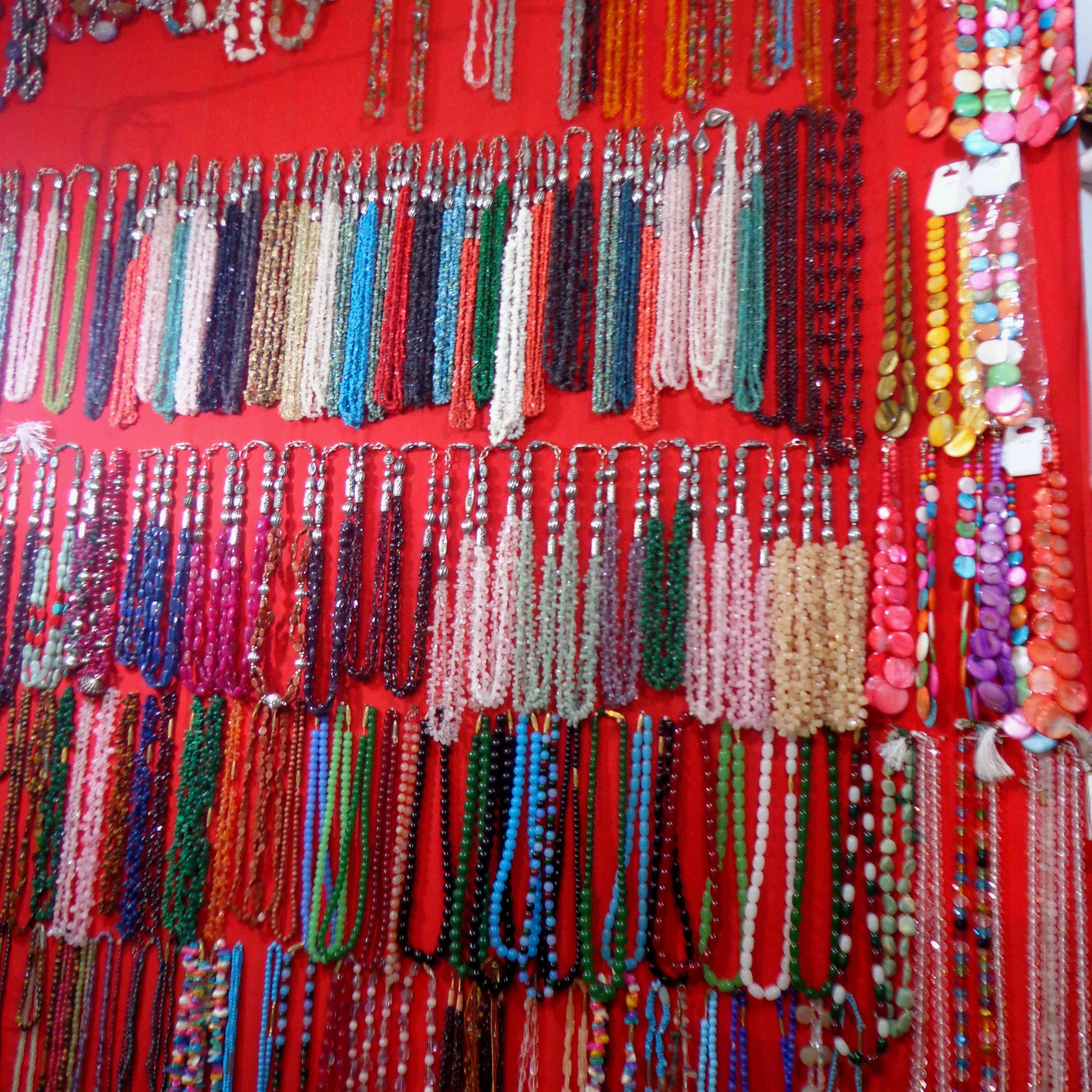 Strings of colorful beads