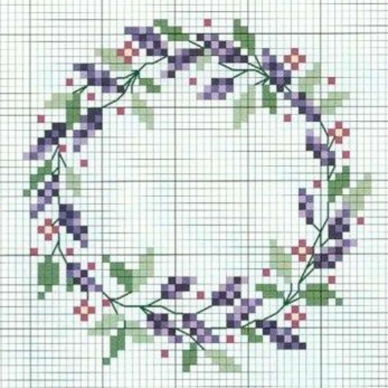 Floral Wreath Cross Stitch Patterns