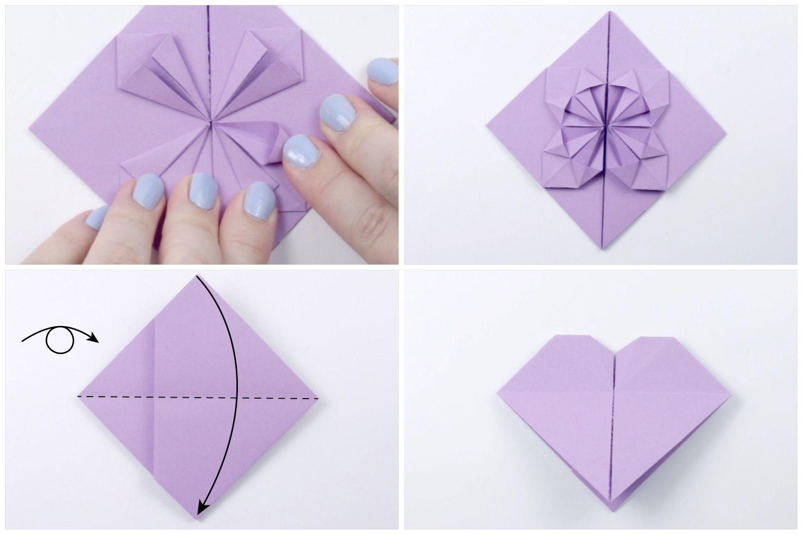 Origami Dollar Heart Tutorial 06