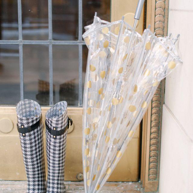 DIY Gold Polka Dot Umbrella