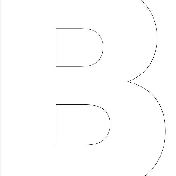 Free Printable B Template