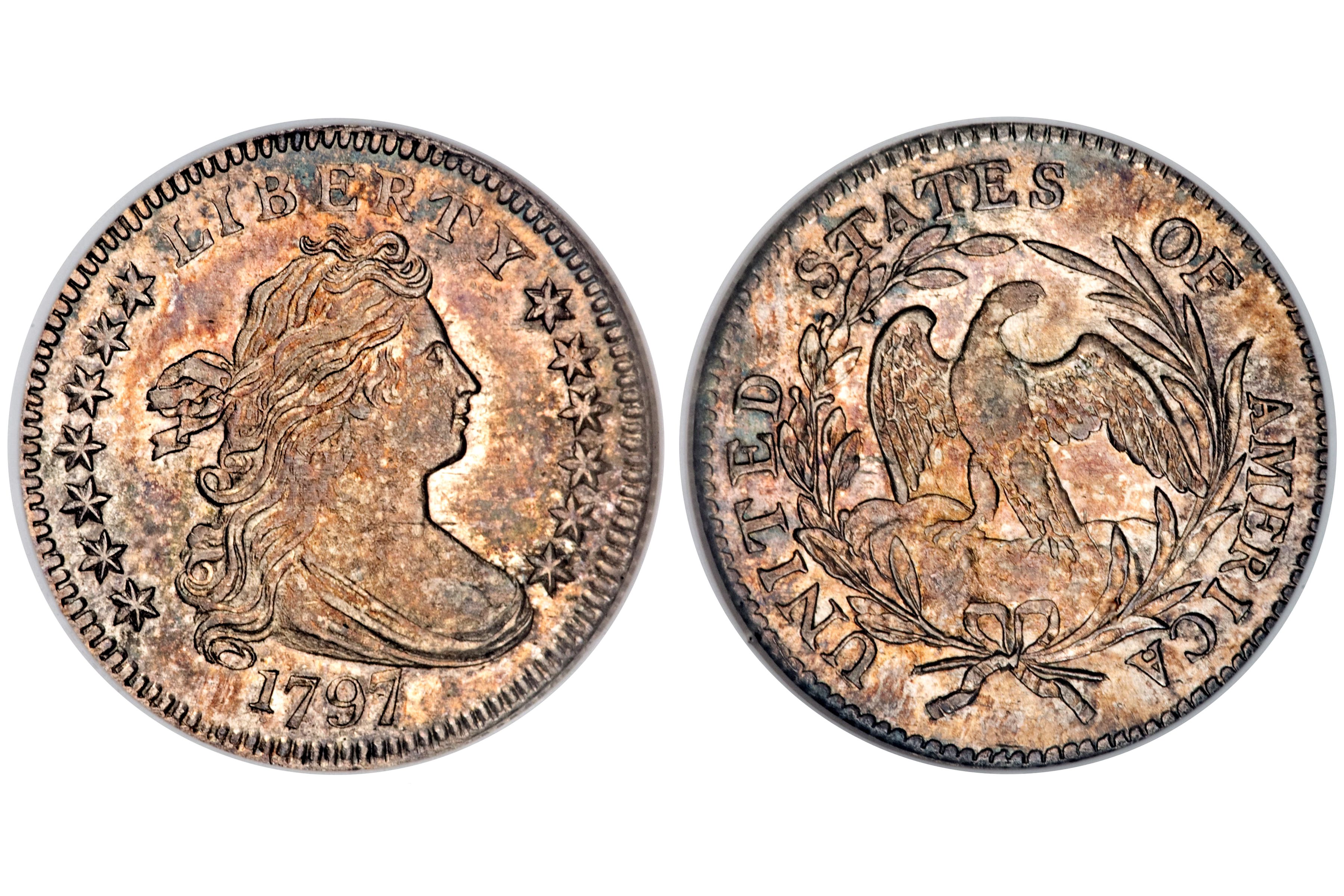 1797 Draped Bust Dime - 13 Stars