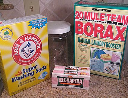 ingredients to make laundry soap