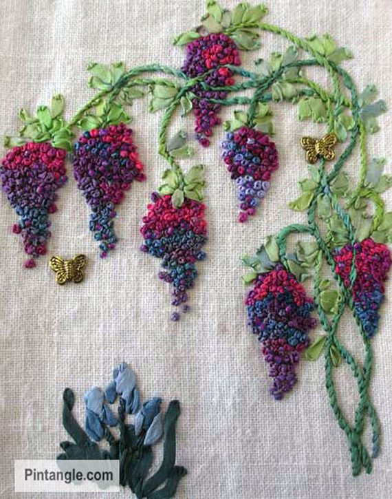 Grape embroidery pattern from pintangle