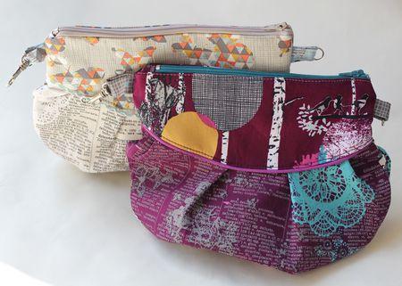 Pleated Zipper Clutch Purse Bag